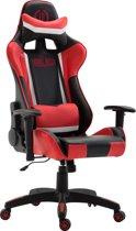 Clp Jerez - Bureaustoel - Kunstleer - zwart/rood zonder voetsteun