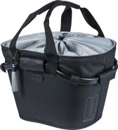 NOIR CARRY ALL FRONT BASKET, fietsmand, midnight black