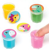 Speelslijm met als thema dinosaurusbaby voor kinderen - (8 stuks per verpakking)