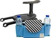 Meerijdplankje - Universeel - Blauwe buggy organizer bag - Antislip - Meerijplankje met zitje - Meerijdplankje voor kinderwagen