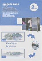 Vacuum opbergzakken - 2st - set - Vacuümzakken - 1x 130x74cm -1x 86x50cm