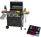 Maxx Gas barbecue - 3 branders - 129x55x100 cm
