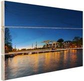 FotoCadeau.nl - Magere brug over de Amstel Hout 80x60 cm - Foto print op Hout (Wanddecoratie)
