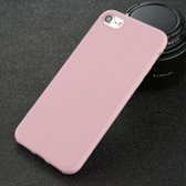 iPhone 7 6 6 s 8 X Plus 5 5 s SE XR XS Effen Hoesje Case Cover Soft TPU - Product Kleur: Roze / Product Materiaal: iPhone 7