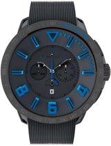 Tendence Round Gulliver Sport Chrono Black/Blue horloge TT560004