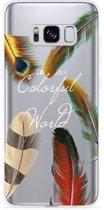 Galaxy S8 plus Hoesje Feathers World