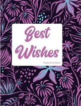 Best Wishes Purple Floral Edition