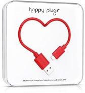 Happy Plugs Micro USB kabel - Rood