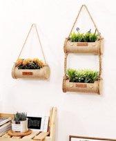 Cosy Living   3 Knusse Planten Bak Hangers   1 Dubbele Hanger & 1 Enkelvoudige