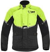 JET -Jacket Heren Textiel waterdicht CE Ge Broekerd Tourer (Fluoriserend, S (36 - 38 ))