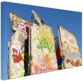 Stukken van de Berlijnse muur Canvas 120x80 cm - Foto print op Canvas schilderij (Wanddecoratie)