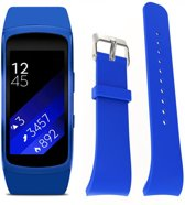 Siliconen Horloge Band Voor Samsung Gear Fit 2 Pro Armband / Polsband / Strap Bandje / Sportband - Blauw