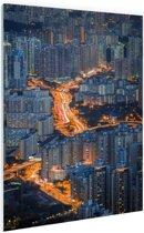 Vele flats Hong Kong Glas 120x180 cm - Foto print op Glas (Plexiglas wanddecoratie)