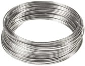 Memory Wire Draad (60 mm x 0.8 mm) Zilver (40 wikkels)