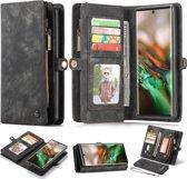 CASEME Luxe Leren Portemonnee hoesje voor de Samsung Galaxy Note 10 Plus - zwart