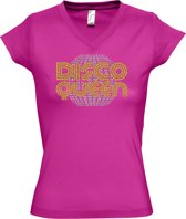 Fuchsia T-Shirt DISCO QUEEN (XL)