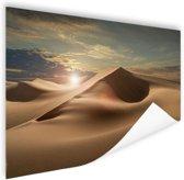 Zandduinen in een woestijn Poster 180x120 cm - Foto print op Poster (wanddecoratie woonkamer / slaapkamer) XXL / Groot formaat!