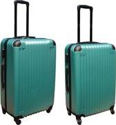 2 delige ABS kofferset 69 en 95 liter groen