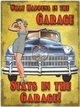 Kleine muurplaat The Garage 15x20cm