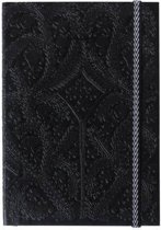 Paseo black embossed notebook a5