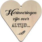 Houten gift heart 16x16cm Herinneringen - 130013122016