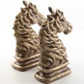 gietijzeren boekensteunen paardenhoofd - gietijzer - paard