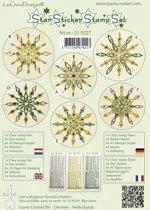 Star sticker stamp set Groen