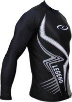 Sportshirt Legend DryFit Zwart/grijs lange mouwen Sublimation  XXL