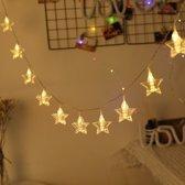 Led Light Slinger Lichtjes met sterrenclips - Batterijen - 15 Knijpers - Lengte 225 cm -Fotolijsten - Kerstverlichting - Trouwdecoratie - Feestverlichting - Feestversiering - Verjaardag decoratie - Kaartenhouder - kerstdecoratie Binnen - Kerst