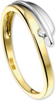 The Jewelry Collection Ring Diamant 0.030ct H Si - Bicolor Goud