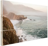 Kliffen Amerika Hout 120x80 cm - Foto print op Hout (Wanddecoratie)
