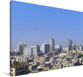 Helder blauwe lucht boven Karachi Canvas 180x120 cm - Foto print op Canvas schilderij (Wanddecoratie woonkamer / slaapkamer) XXL / Groot formaat!