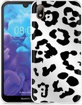 Huawei y5 2019 Hoesje Luipaard Zwart Wit
