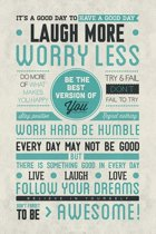 Poster Be Awesome Quote-Happy-laugh-dreams- (61x91.5cm)