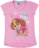 Paw-Patrol-T-shirt-met-korte-mouw-fuchsia-maat-110