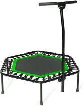 SportPlus SP-T-110-G - Fitness trampoline 110cm met handelbar - Zwart/Groen