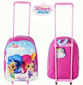 SHIMMER & SHINE Trolley Logeren Vakantie Kinderkoffer Roze Lief