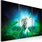 Schilderij - Ice tiger