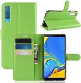 Book Case Samsung Galaxy A7 (2018) Hoesje - Groen