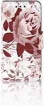 Samsung Galaxy S4 Mini i9190 Uniek Boekhoesje Watercolor Flowers