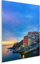 Schemering in Cinque Terre Plexiglas 80x120 cm - Foto print op Glas (Plexiglas wanddecoratie)