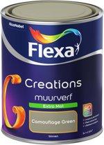 Flexa Creations - Muurverf Extra Mat - Camouflage Green - 1 liter