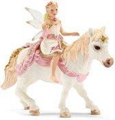 Vrouwelijke Lelie-Elf op Pony