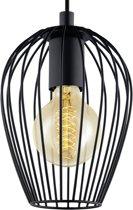 EGLO Vintage Newtown - Hanglamp - 1 Lichts - Ø160mm. - Zwart