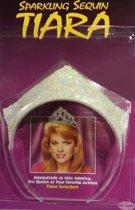 tiara met pailletten - parelmoer