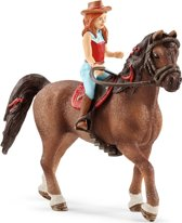 Schleich Hannah en Cayenne 42514 - Paard Speelfiguur - Horse Club - 5 x 18 x 15 cm