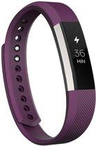 KELERINO. Siliconen bandje voor Fitbit Alta - Paars - Large