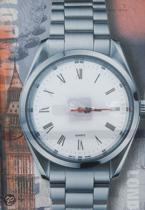 Canvas stedenprint London - Klok - Rechthoekig - Canvas - 60x40 cm - Zilver