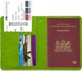 Paspoorthouder / Paspoorthoesje / Passport Wallet - V1 - Groen
