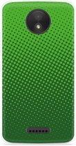 Motorola Moto C Hoesje groene cirkels